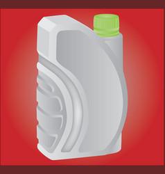 white bottle vector image