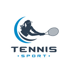 womens tennis sports logo vector image