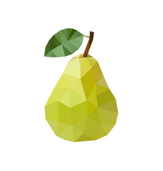 green pear in polygonal style vector image