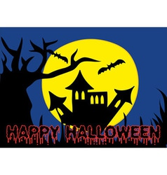 Halloween Holiday Castle vector image