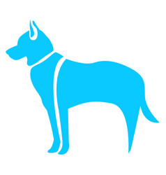 Isolated abstract dog vector