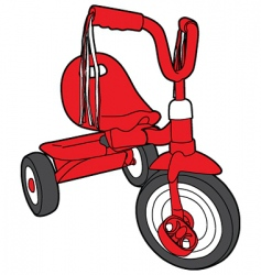 red bicycle vector image