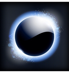 Techno background with blue light frame vector image