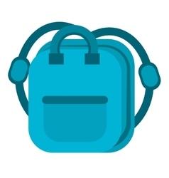 Blue bag school pupil vector