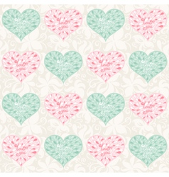 love pattern vector image vector image