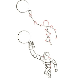 Man Playing with a Ball vector image vector image
