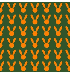 Orange Rabbit Green Background vector image