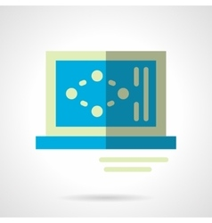 Science laptop flat color abstract icon vector image vector image