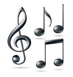 Treble clef with notes vector image vector image