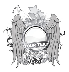 vintage label with wings vector image