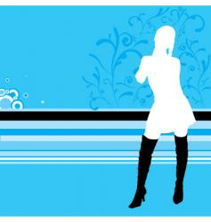 cool lady vector image