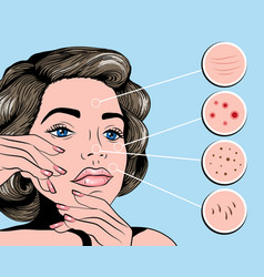 facial treatmets pop art style vector image