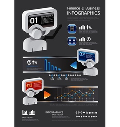 info graphic finance and business vector image vector image