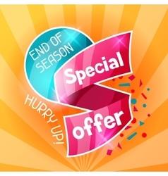 Sale banner advertising flyer for commerce vector
