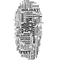 your holiday gift guide for men text word cloud vector image vector image