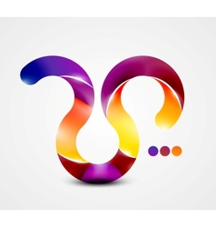 Colorful abstract swirl shape vector image
