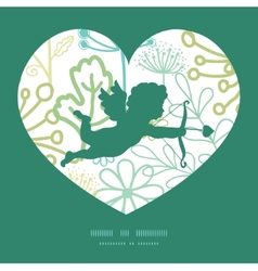 Mysterious green garden shooting cupid vector