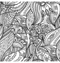 Pattern with Owls in the Forest vector image vector image