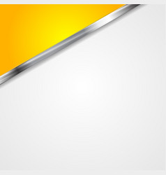 Abstract corporate background with metallic stripe vector image