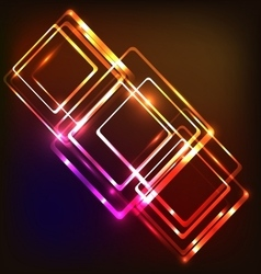 Abstract neon background with rounded rectangles vector image
