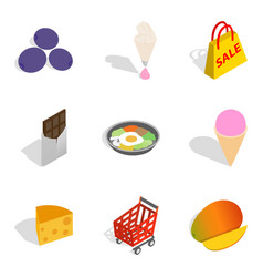 Acquire icons set outline style vector