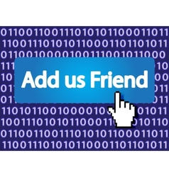 add us friend vector image