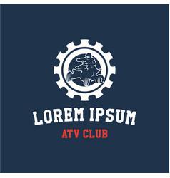 Atv club logo template design vector