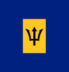 Barbados national flag with official colors vector