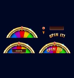 bonus wheel of luck elements vector image