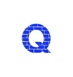 Brick logo letter q vector