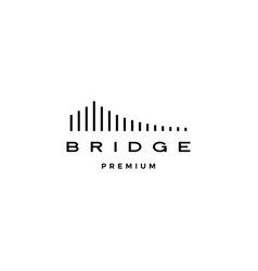 Bridge logo icon line outline monoline vector