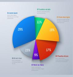 Business 3d pie info chart for presentation vector