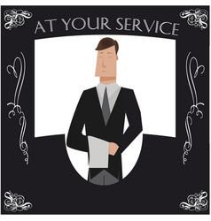 butler poster vector image