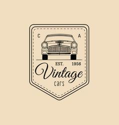 car repair logo with retro automobile vector image