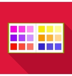 Color booklet icon flat style vector