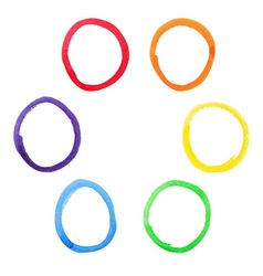 Colorful watercolor circles set vector