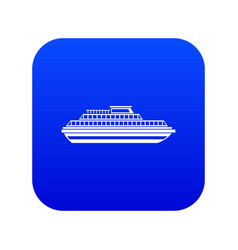 cruise ship icon digital blue vector image
