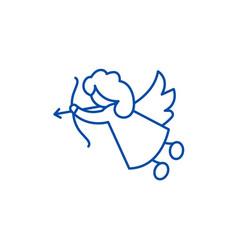 cupid line icon concept cupid flat symbol vector image