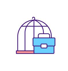 Deception about job rgb color icon vector