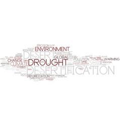 desertification word cloud concept vector image