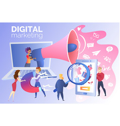 Digital marketing for online trading carton vector