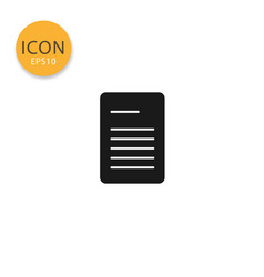document paper icon isolated flat style vector image