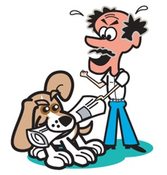 Dog and owner vector image