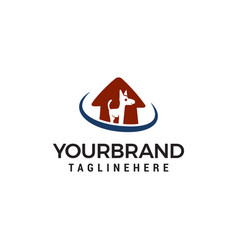 dog house logo animal care logo design template vector image