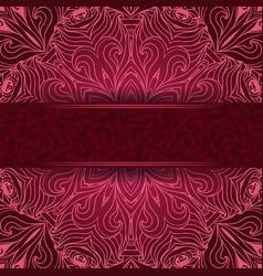 Elegant lace background with a red label vector