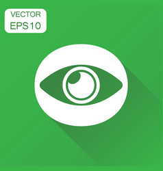Eye icon business concept eyesight pictogram on vector