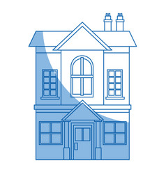 family house private residential architecture vector image