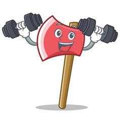 Fitness axe character cartoon style vector