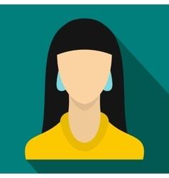 Girl icon flat style vector