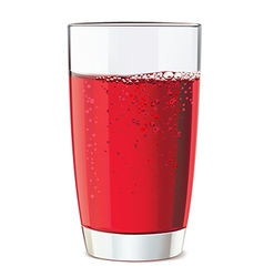 Glass of red juice vector image